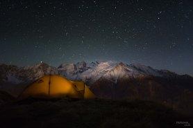Vue sur le Mont Blanc depuis l'Aiguillette des Houches, Chamonix